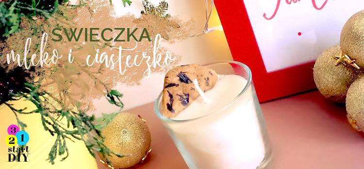 Świeczka świąteczna – mleko i ciasteczko dla Mikołaja