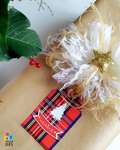 etykiety na Boże Narodzenie