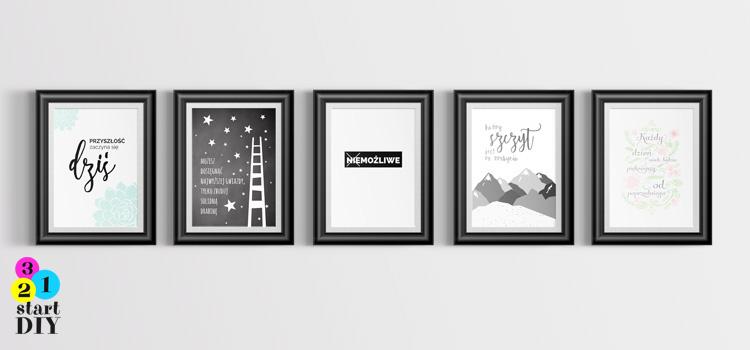 Plakaty Motywacyjne Do Wydruku 321 Start Diy