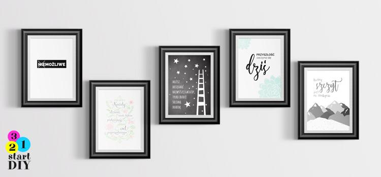Plakaty motywacyjne do wydruku