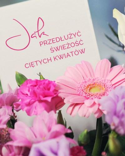 jak przedłużyć świeżość ciętych kwiatów