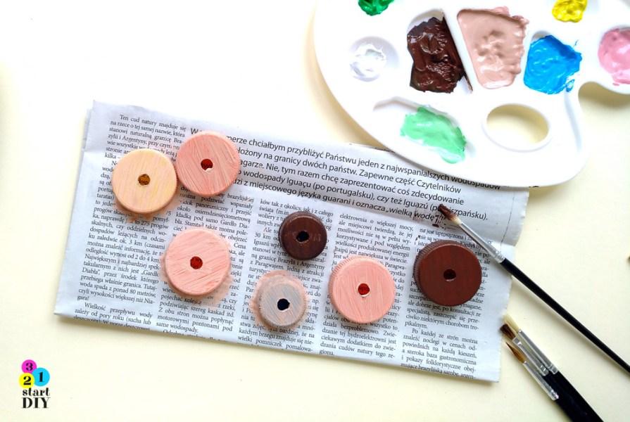magnesy na lodówkę DIY donaty