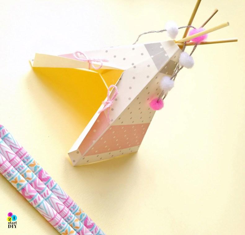 namiot tipi z papieru