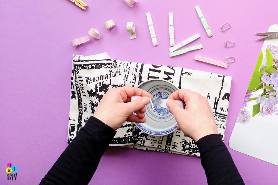 Klamerki drewniane - jak zrobić naklejkę DIY