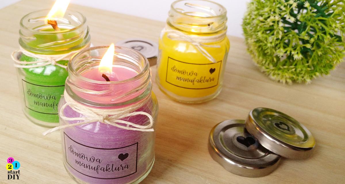 Świeczki w słoikach – zrób to sam