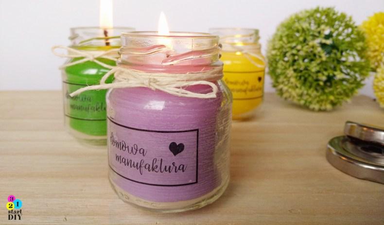 świeczki w słoikach DIY