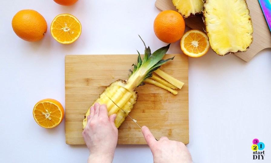 Jak pokroić ananasa - szybko i ładnie