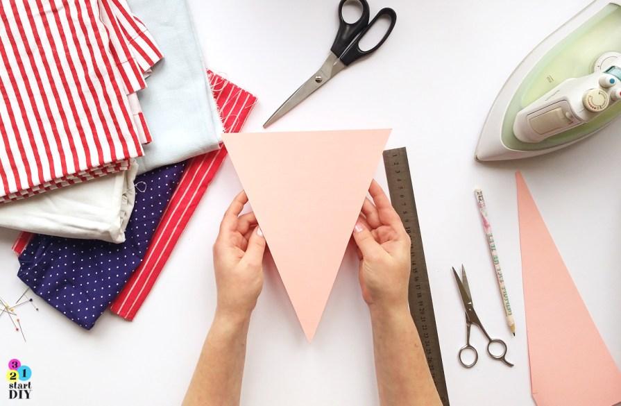 jak uszyć girlandę trójkąty