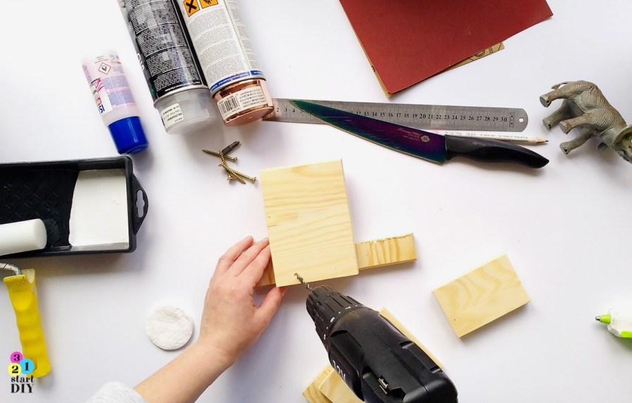 podpórki do książek DIY