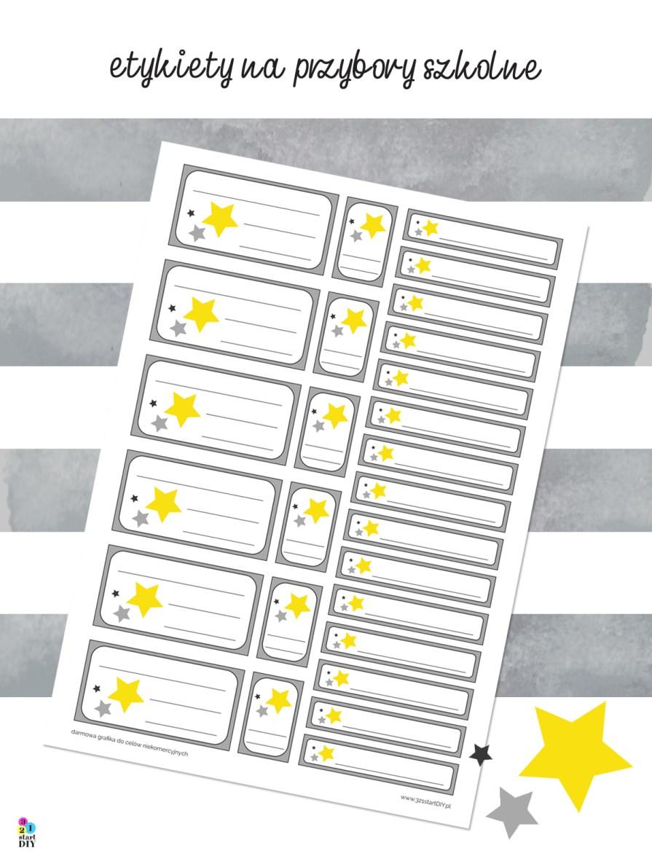 etykiety do druku - gwiazdki