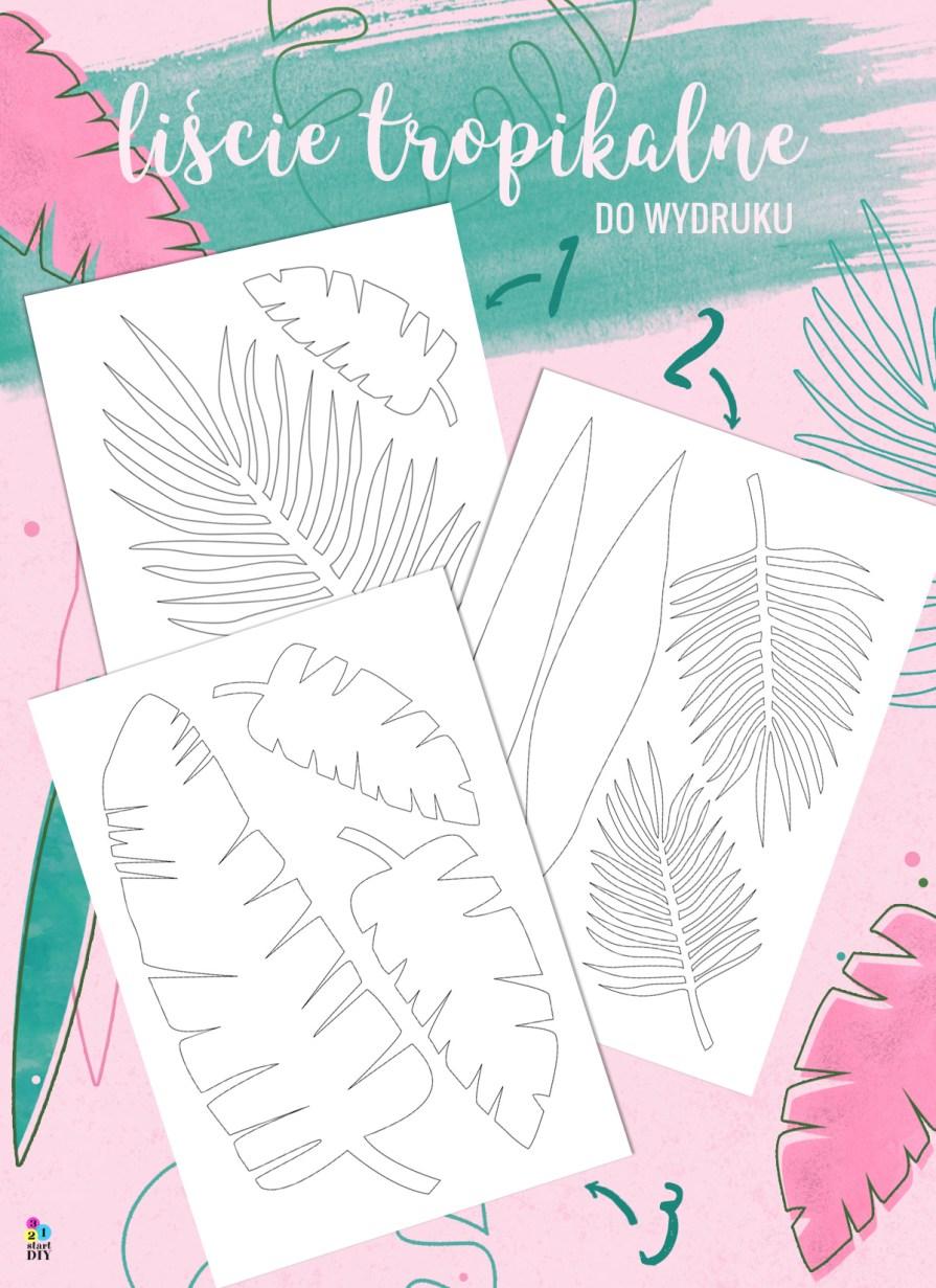 Tropikalne liście - szablony do druku i wycinania