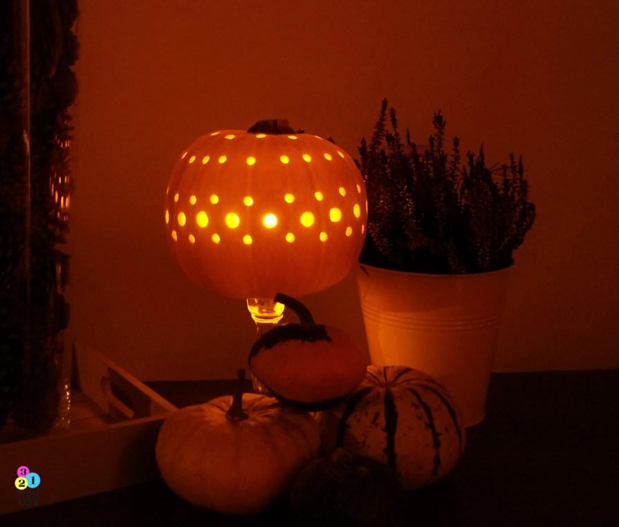 jak zrobić elegancki lampion z dyni