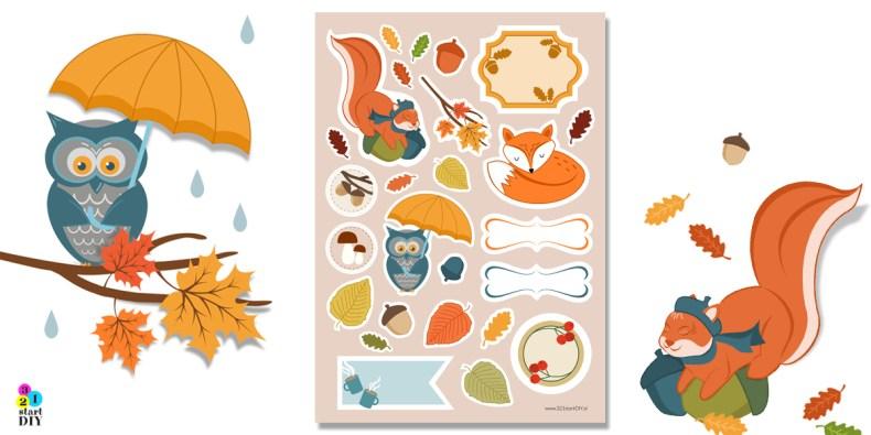kolory jesieni, papier dekoracyjny do druku