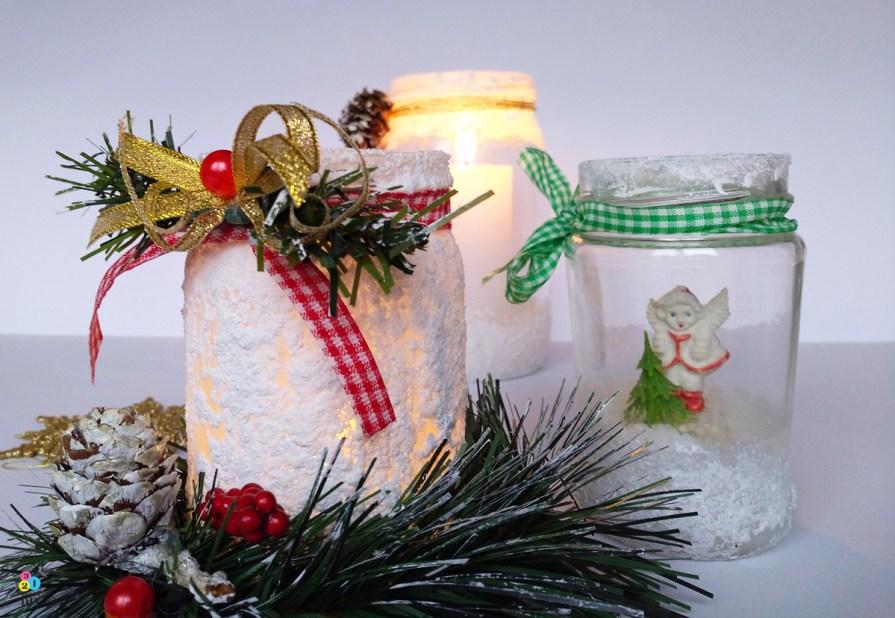 co zrobić ze słoika; dekoracja na święta