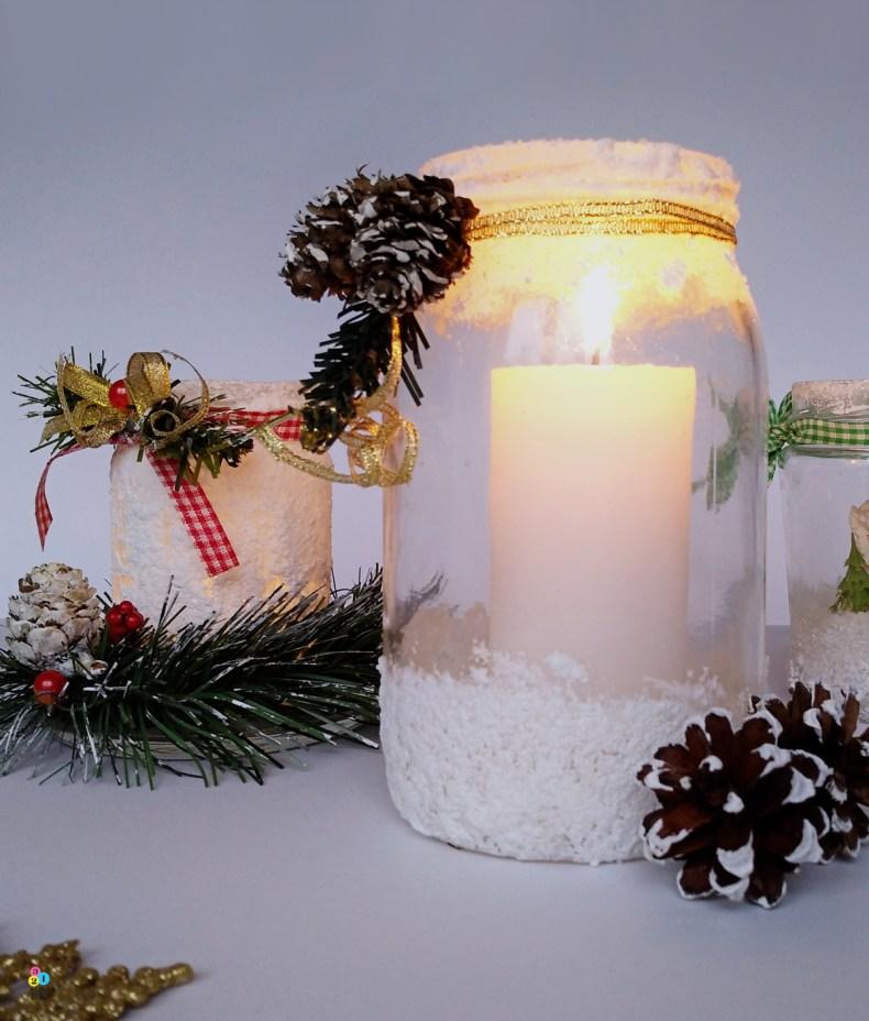 co zrobić ze słoika; świąteczny świecznik