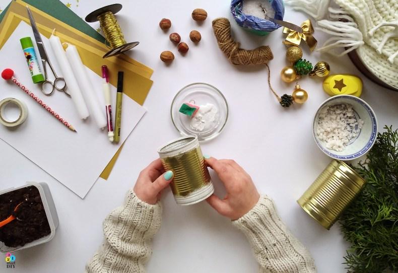 jak zrobić świecznik adwentowy diy