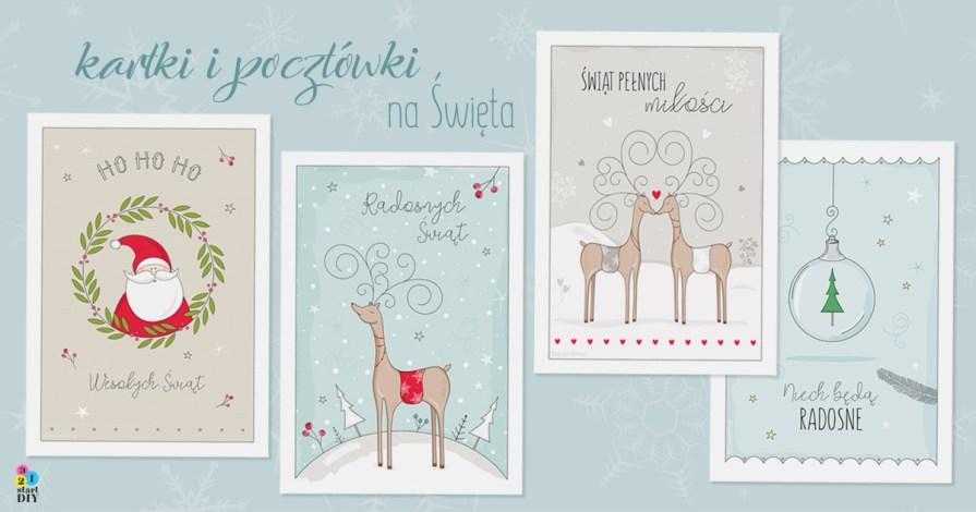 Darmowe Kartki świąteczne 4 Wzory Do Druku I E Kartki
