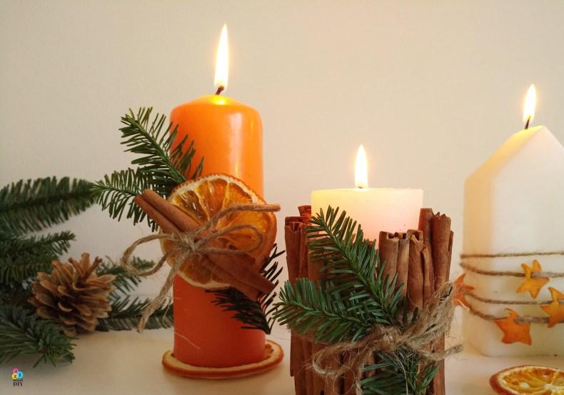 jak zodobić świece - świąteczne inspiracje