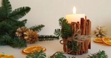 Jak ozdobić świece, świeca z cynamonem