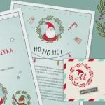 List od świętego Mikołaja i Dyplom – grafika do druku