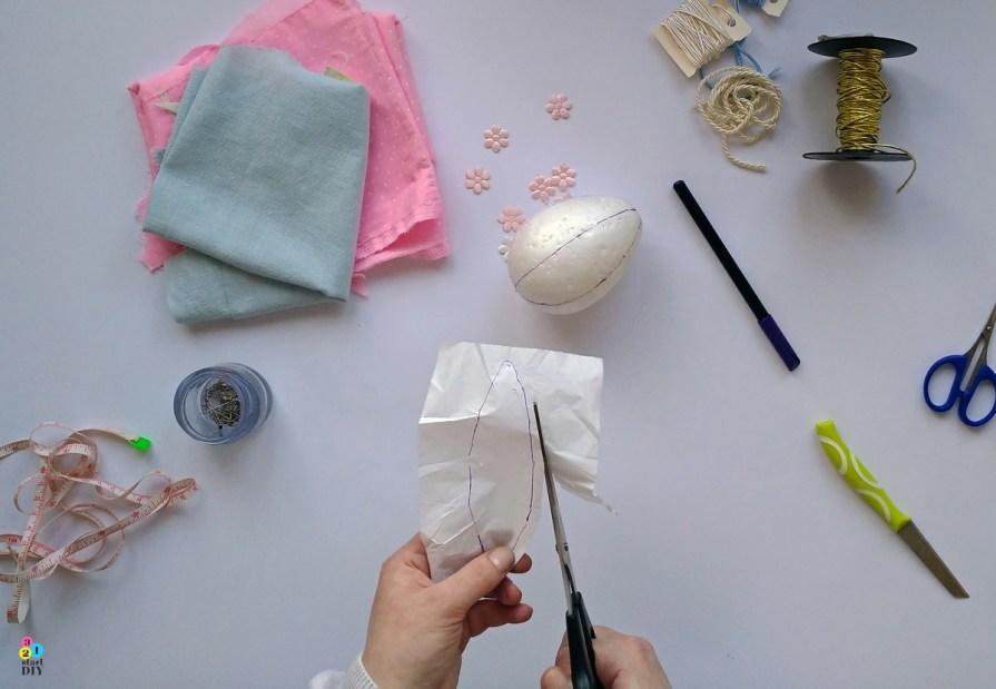 Patchworkowe jajka wielkanocne - technika kimekomi