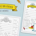 Podsumowanie roku szkolnego – formularz dla dzieci