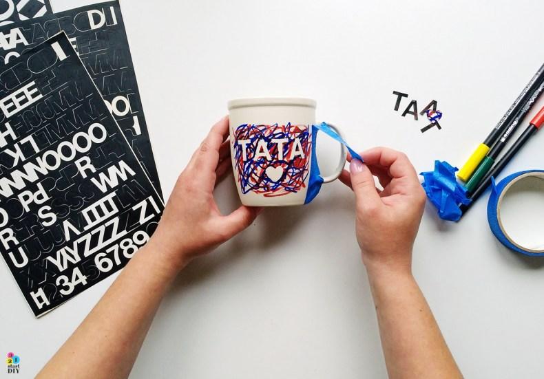 kubek z napisem, kubek dla taty, prezent DIY