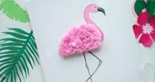 Różowy flaming - obraz do pokoju dziewczynki