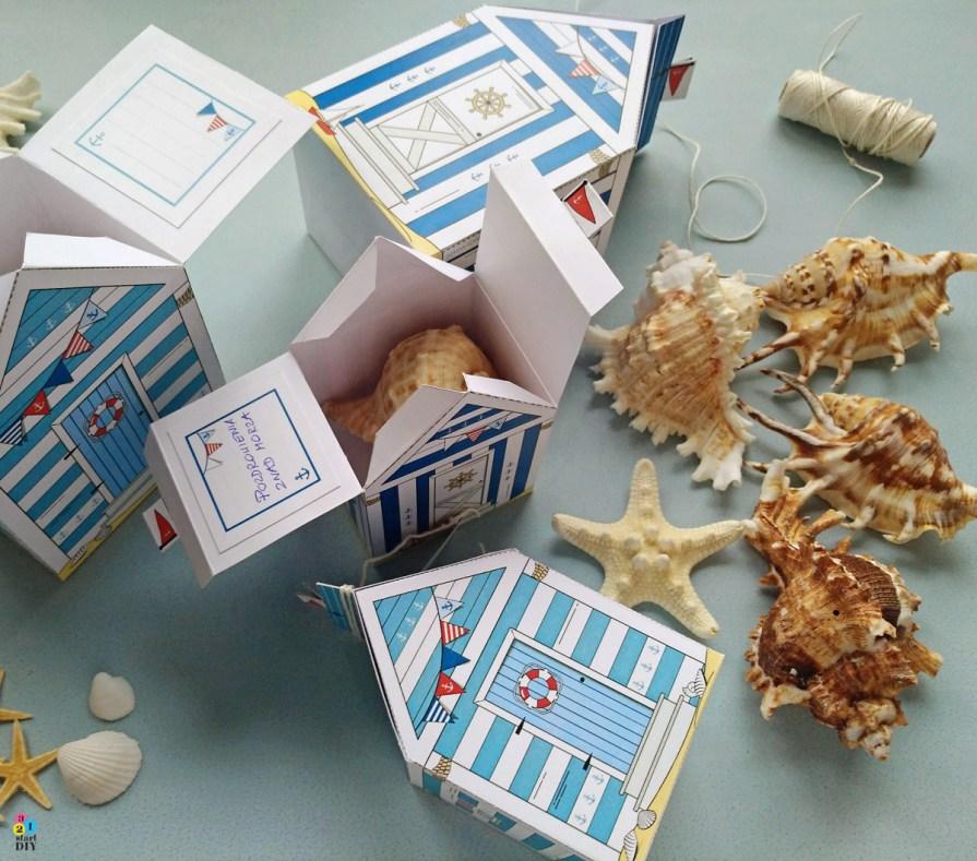 Morski domek - pudełko na upominek