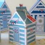 Morski domek – pudełko na upominek // dwa rodzaje
