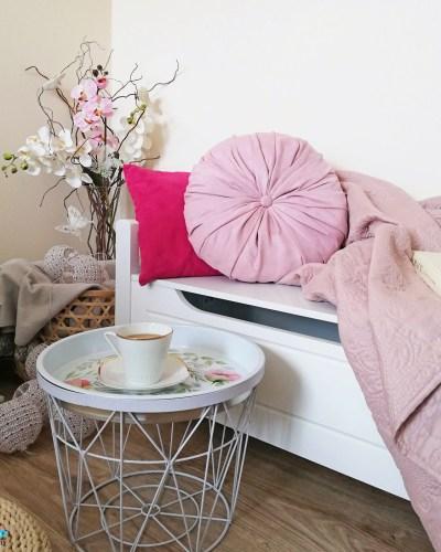 okrągła poduszka dekoracyjna