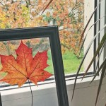 Jesienny liść w ramce – piękna dekoracja diy