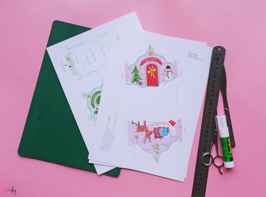 Fabryka Elfów i domek Świętego Mikołaja - darmowe pudełka na upominki