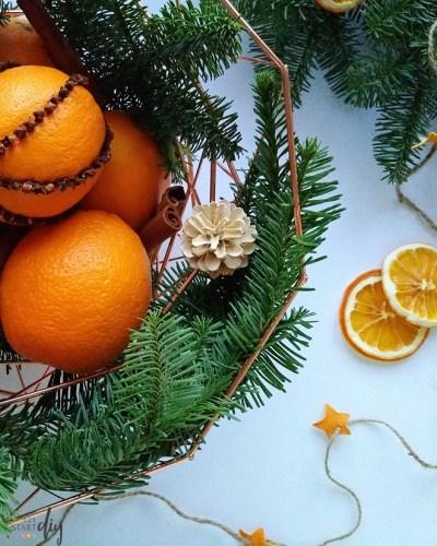 Świąteczne ozdoby z pomarańczy - pachnące diy