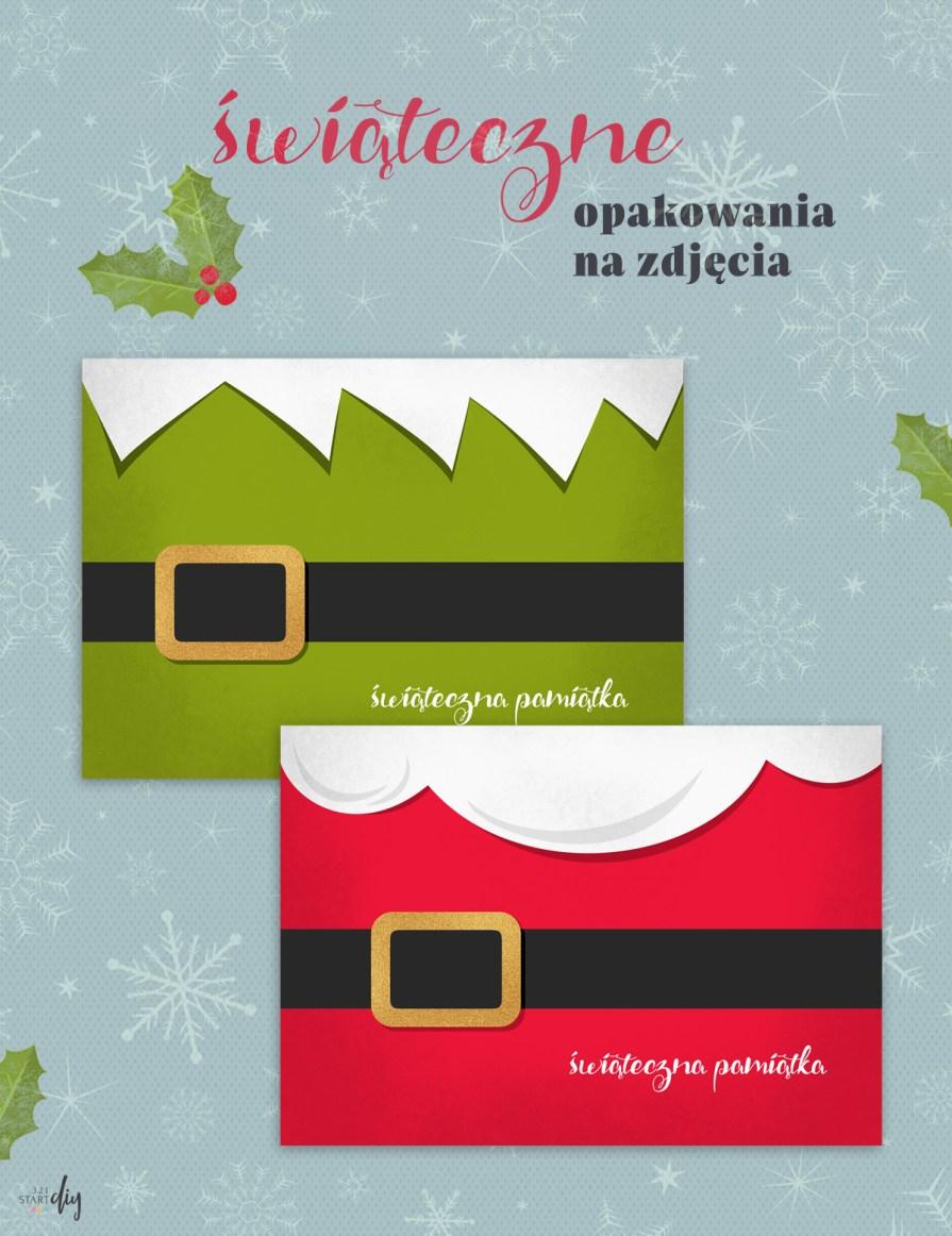 Opakowanie na świąteczne zdjęcia - do druku