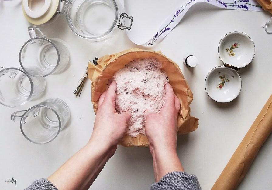 lawendowa sól do kąpieli DIY