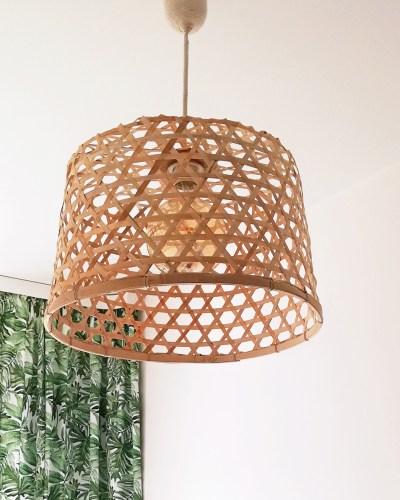 Super tania lampa DIY - lamapa z kosza, który kupisz w JYSK