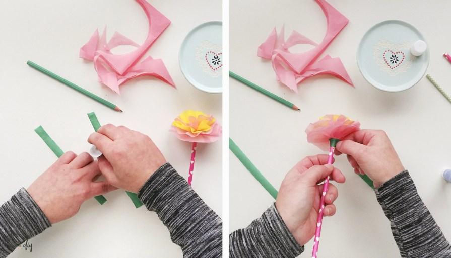 Proste kwiaty z bibuły - twórczy czas z dzieckiem