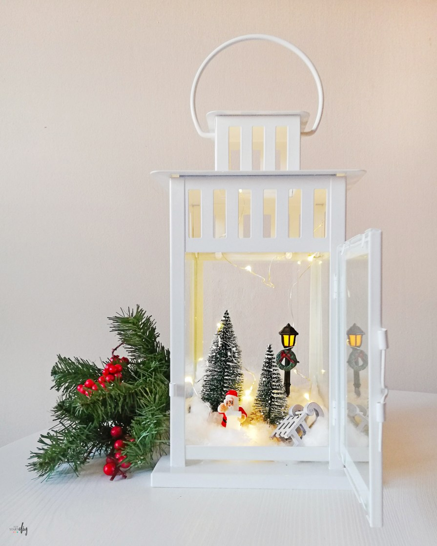 Świąteczny lampion - miniaturki w latarence