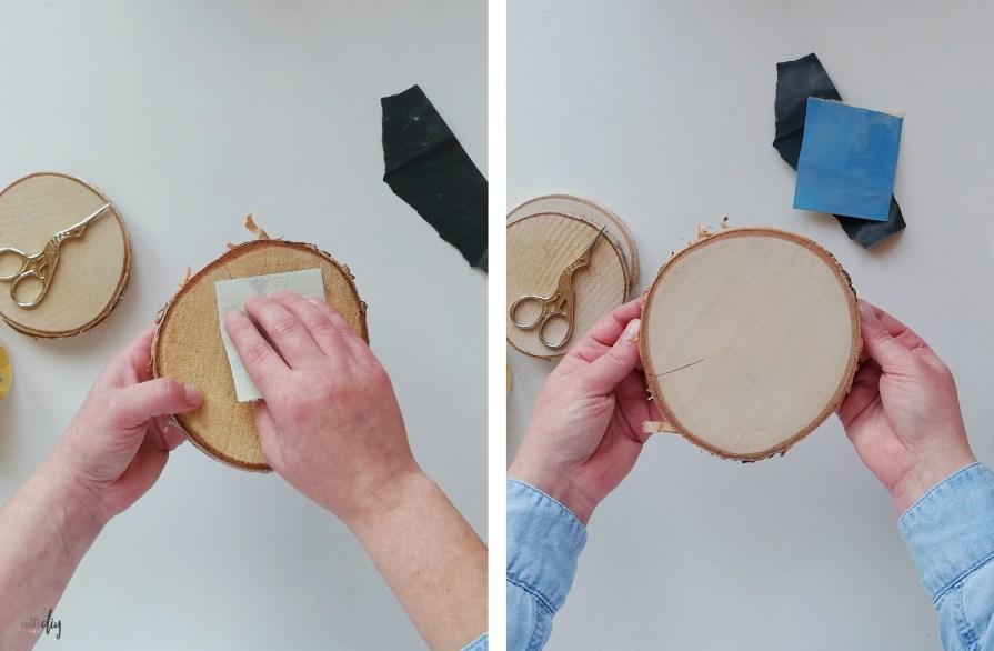 szlifowanie plastrów drewna