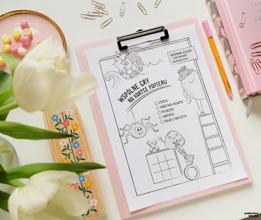 gry na kartce papieru - plansze do druku