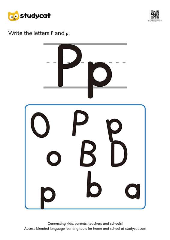 Letter Pp Writing Worksheets