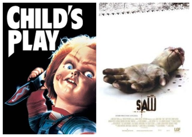 Child's Play Chucky, Saw Scary Movies