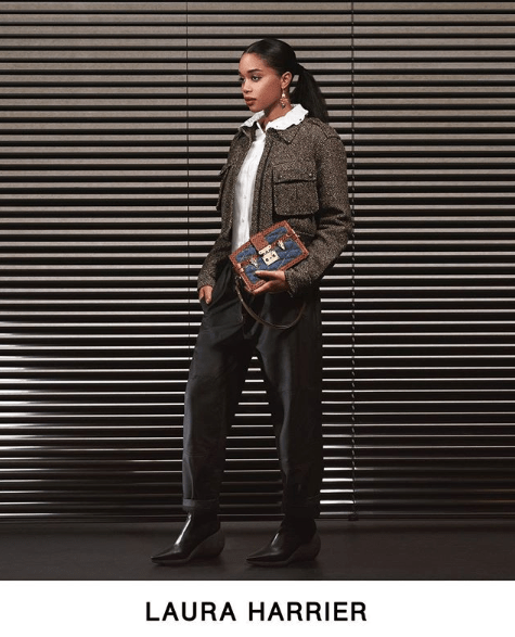 Actress Laura Harrier stars in Louis Vuitton Pre-Fall 2019 lookbook.