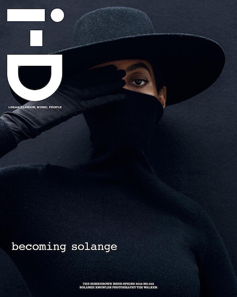 Solange covers i-D magazine's homegrown issue.