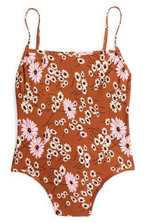 MADEWELL Second Wave Daisy Print One-Piece Swimsuit
