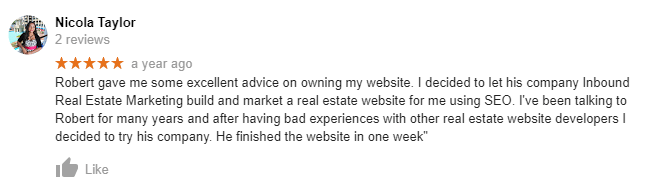 Excellent Realtor Reviews