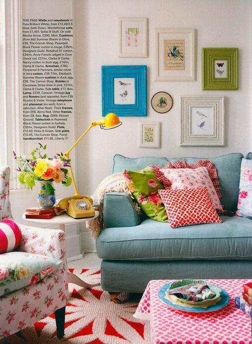 Salas Coloridas Eclticas  Encadre Posters Blog