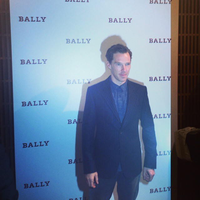 elleuk   hanging out with Benedict Cumberbatch at the @Bally flagship store opening #London #Bally
