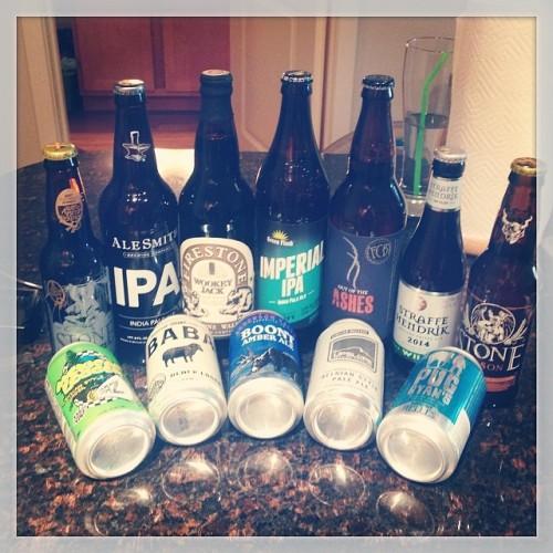 Beer haul for the weekend! @stonebrewingco @skabrewing @uintabrewing @greenflashbeer @fortcollinsbrewery @upslope @firestonewalker #drinkandspoon #drink #beer #beerhaul #beerlove #beerporn #beerstagram #instabeer #craftbeer